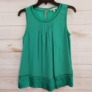 Skies are Blue green sleeveless blouse size M